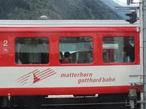 Matterhorn-Gotthard-Bahn in Disentris