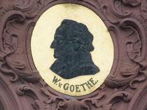 Bildnis Goethe am Hauptgebäude