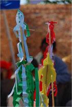 中国・陝北の厄除け儀礼で使う、「丹聴」と呼ばれる御幣