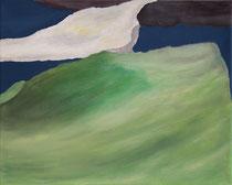 Landschaft, Acryl auf Leinwand, 4 mal 30 x 24 cm