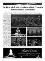 """EL FARO DE CEUTA. """"DEVADASI: LA MUJER INDIA"""" EN CEUTA"""