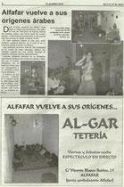 "TU PERIODICO LOCAL ""VELADAS ORIENTALES CON ANNA MIRA"""