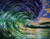Die Welle, 2016, Öl auf Leinwand, 100x80