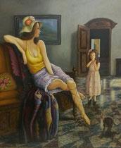 Der Kater, 2014, Öl auf Leinwand, 65x55