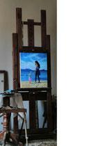 Glück, 2017, Öl auf Leinwand, 50x40