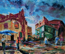 Die alte Straße, 2015, Öl auf Leinwand, 50x60