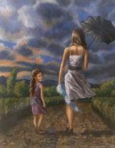 Der Wind, 2014, Öl auf Leinwand, 50x40
