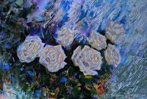 Die Rosen, 2016, Öl auf Leinwand, 35x23