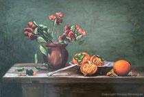 Stilleben, 2016, Öl auf Leinwand, 70x50