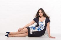 Blumen-Muster mal elegant: Kleid von Sallie Sahne