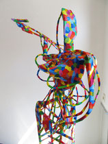 Ortlinde 2011  Holz, Pappmaché, Kabel, Styropor, Acryl  170 x 70 x 80