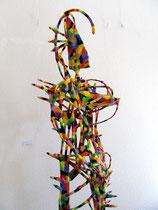 Sieglinde 2011  Holz, Pappmaché, Kabel, Styropor, Acryl  180 x 60 x 50