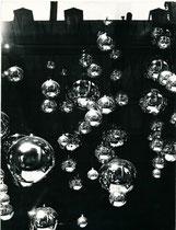 Photomontage aux boules de Noël
