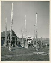 Totems indiens dans le nord du Canada, Kispiox, Colombie Britannique