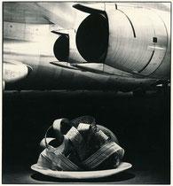Photomontage au réacteur d'avion