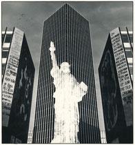 Photomontage à la statue de la Liberté