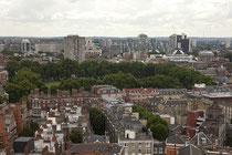 Blick vom Turm der Westminster Cathedral auf die Innenstadt Londons.