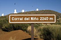 Rund 13 Kilometer nordöstlich vom Gipfel, befindet sich das Observatorio del Teide des Instituto de Astrofísica de Canarias (IAC) mit seiner ESA Optical Ground Station.