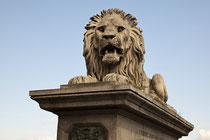 Löwe auf der Kettenbrücke.