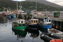 Ullapool, ein schönes Fischerdorf, liegt auf einer Halbinsel, die in den Loch Broom hineinragt.