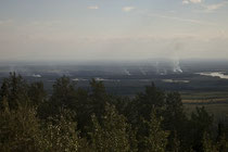 Immer wieder sahen wir kleinere Waldbrände.