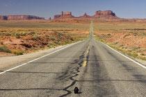 Fahrt auf Monument Valley.