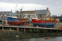Der Ficherort Mallaig an der Westküste Schottlands (Highlands). Leider war der Ort sehr von Touristen überlaufen.