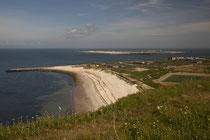 Blick auf den nördlichen Strand und auf die Düne.