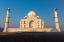 Taj Mahal vom Gästehaus aus gesehen