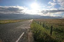Eines unserer ersten Fotos auf dem Weg nach Bathgate (West Lothian). Die Straße ist die 71.