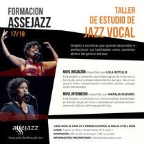 TALLER DE JAZZ VOCAL ASSEJAZZ. SEVILLA. VIERNES 3 y 17. De 17:00 a 20:00 HORAS.