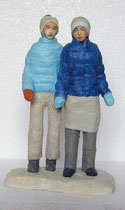 Basislager2, 2006, Gips, Baumwolle, Draht, Acrylfarbe, 26 x 16 x 9 cm
