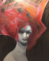 "Gants Girl by Jody Flaherty  oil on canvas $500  24"" x 36"""