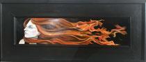 Firewoman  oil on panel framed  SOLD