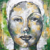 """Moving Forward  36 x 36"""" acrylic on Canvas  by Kelly Thiel"""