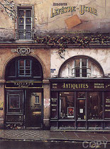 """Boutique d' Antiquités, (Serigraph)  24 x 18"""""""