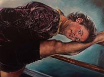 "Maykel   oil on canvas  36"" x 48""  $2750"