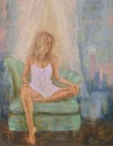 The Green Chair oil on linen  Kelly Berkey 24 x 18  $1495