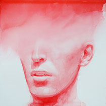 """Dissolve 8"""" x 8"""" water color on clay panel by Ali Cavanaugh   $1800"""