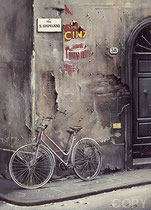 Un Bicyclette a Florence  Ltd Ed. Serigraph  35 x 27 in