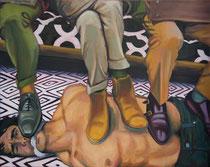 The Commuters oil on canvas   P.T. Jones    $1000