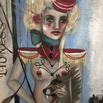 Leona  30 x 30 Oil on Canvas  Teresa Magel   $1400