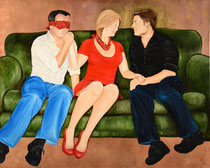 Love Is Blind   20 x 16   Mixed media on panel   $320