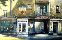 Garage St. Antoine  Ltd Ed Serigraph  25 x 39 in