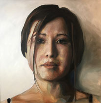 Coleen 60 x 60 in oil on canvas Benjamin Parks  $4400