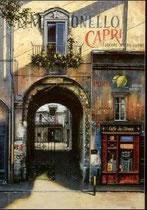 """Limonello di Capri, (Serigraph) 51 x 35"""""""