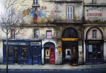 Rue St. Anne   Ltd Ed. Serigraph  29 x 46 in