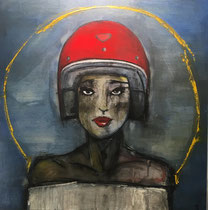 The Royal Road Queen   oil on Board  48 x 48 Tarin Eicher   $1600