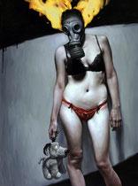 """The Masquerade 48 x 36"""" oil on canvas  Michael Nolan    $8800"""