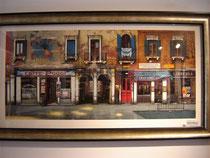 """Caffe Poggi, (Serigraph) 23.5 x 51"""""""